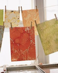 How to Marbleize Paper and Cards | Martha Stewart