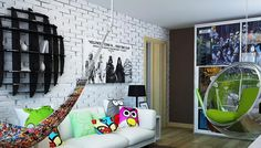 Modern teenage bedroom design, good organization and personal teens room decorations create inviting and comfortable living saces for young adults