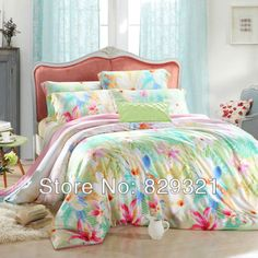 Luxury Tencel bed set  satin jacquard bedding set bed sheet set queen  size with duvet cover pillowcase bed sheet home using $113.00 - 115.00