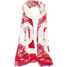 $24.95 Oklahoma Sooners Ladies Watercolor Scarf - Crimson