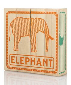 Look at this #zulilyfind! Zoo Animal Puzzled Block Game by Tree Hopper Toys #zulilyfinds