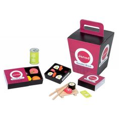 Sushi Take Away Box Set - Janod for sale by Little Shop of Treasures. Other Janod available now at LSOT.