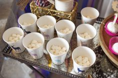 Marshmallows all ready for their hot chocolate!