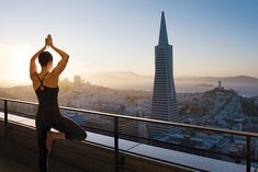 Rooftop Vinyasa: The Mandarin Oriental San Francisco has a yoga-centric breakout package for corporate groups. Held on the hotel's 40th-floor sky deck, the ­session ­includes guided stretching and breathing and can last from 15 minutes to two hours. Staffers provide yoga mats, fresh towels, and water.