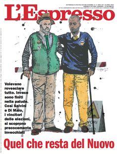 La cover dell'Espresso in edicola da domenica 22 aprile