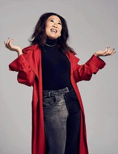 Sandra Oh, Cristina Yang, Jodie Comer, Magazine Editor, Time Magazine, Girlfriends, Eve, Beautiful People, Kimono Top