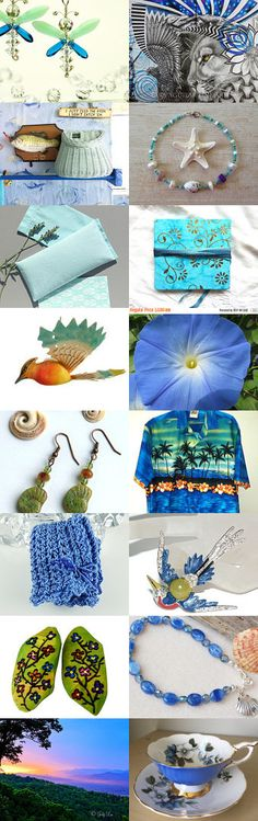 Green and blue treats by Diana on Etsy--Pinned+with+TreasuryPin.com