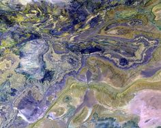 Earth as Art: photos of earth from space look like abstract paintings NASA has compiled a selection of fascinating photographs. Satellite Photos Of Earth, Earth Photos, Papua Nova Guiné, Earth From Space, Epic Art, Acrylic Wall Art, Art Series, Glass Wall Art, Sierra Nevada
