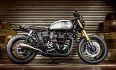 Triumph Bonneville // MALTESE FALCON par Macco Motors | Effronté