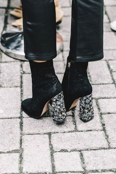 Boots with statement heels are my fave right now