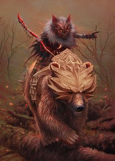 Wermling Beast Tyrant, Alexandr Elichev on ArtStation at https://www.artstation.com/artwork/9BkGO