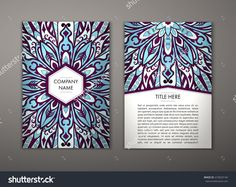 Flyer With Floral Mandala Pattern And Ornaments. Vector Flyer Oriental Design Layout Template, Size. Islam, Arabic, Indian, Ottoman Motifs. Front Page And Back Page. Easy To Use And Edit. - 410023144 : Shutterstock