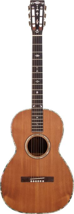 Johnny Cash's Bauer parlor guitar, circa 1890s, restored by Danny Ferrington