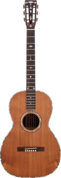 Johnny Cash's Bauer parlor guitar, circa 1890s, restored by Danny Ferrington