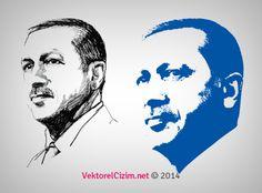 Vektörel Çizim | Recep Tayyip Erdoğan Portre