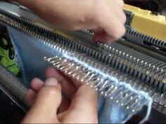CALADO EN GORRITO BB- tejer a maquina leccion 4 - YouTube