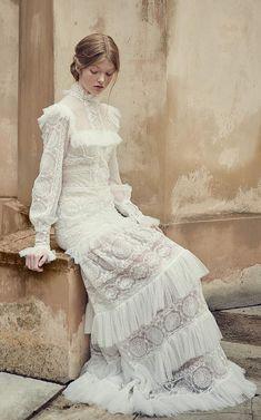 Vestido de novia Boho Chic - floorlength skirts and dresses - Vestidos Best Wedding Dresses, Bridal Dresses, Wedding Gowns, Lace Wedding, 50s Wedding, Princess Wedding, Summer Wedding, Wedding Cake, Vestidos Vintage