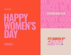 Women's Day on Behance Identity Design, Visual Identity, Brand Identity, Layout Design, Web Design, Flat Design, Protest Posters, Social Media Design, Graphic Design Inspiration