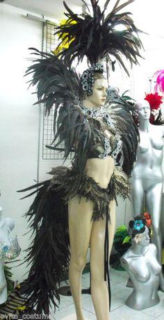 Da NeeNa C003 Vegas Showgirl Carnival Cabaret Stage Headdress Costume Set S-3X #DaNeeNa