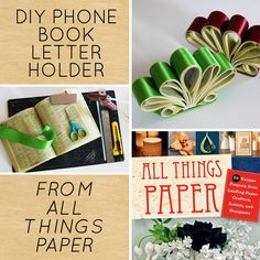 DIY Project: Phone Book Letter Holder from All Things Paper Book