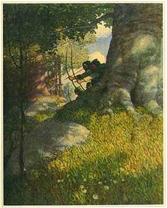 Robin Hood illustration by the amazing N.C. Wyeth from Robin Hood by Paul Creswick.