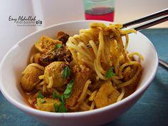 Resepi mee kari nyonya, resepi mee kari simple, curry mee, singapore laksa, laksa curry