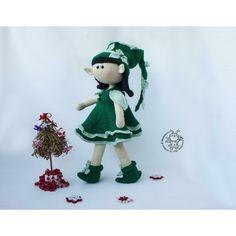 Elf doll knitted flat Knitting pattern by Christmas Knitting Patterns, Knitting Patterns Free, Boucle Yarn, Elf Doll, Halloween Books, Plymouth Yarn, Cascade Yarn, Paintbox Yarn, Dog Sweaters