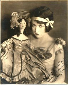 Marie Prevost & her boudoir doll.