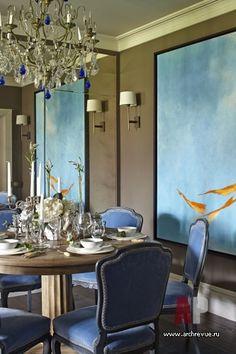 Фото интерьера столовой таунхауса в американском стиле