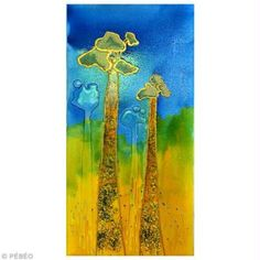 Tuto mixed media Pébéo : tableau baobab