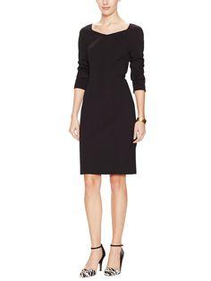 Ponte Long Sleeve Sheath Dress from Ava