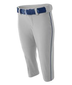 A4 Adult Softball Pant With Cording Nw6188 Grey Navy