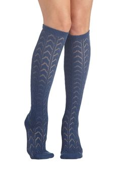 Early Warming Socks in Blue, #ModCloth