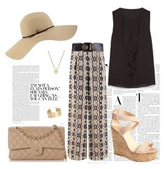 """""""29.09.2015"""" by fashion-sense-xo ❤ liked on Polyvore featuring Giuseppe Zanotti, Chanel, Coal and H&M"""