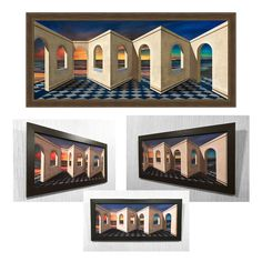 Reverspective, Reverse perspective poster Arches at Sunset, 3D wall art, Picture, Illusion, 3D picture, Optical illusion, 3D, Modern Art, by IllusionartStore on Etsy