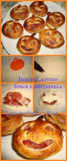 Tutto Per Tutti: JACK-o-LANTERN SPECK E MOZZARELLA - speciale Halloween. Snack o antipasto per festeggiare Halloween con gusto!!