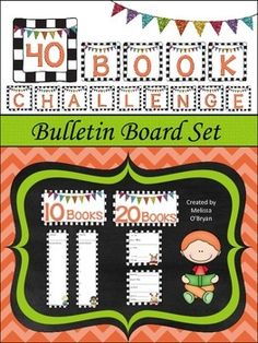 Are you challenging your students to read 40 books this year?  If you're taking part in this Book Whisperer challenge, and you're looking for a way to visually track your student's progress - look no further - this 40 Book Challenge Bulletin Board Set is for you.  Set includes 40 Book Challenge letters; 10, 20, 30, & 40 Book headers, book tracking squares, & book tracking squares. Your students will love watching the bulletin board fill up! $ #wildaboutfifthgrade