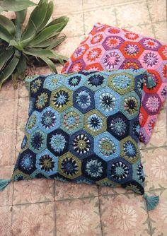 Mediterranen Pillow Covers Crochet Pillow Cover by ElvishGiggles,