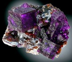 Fluorite on Sphalerite --- Elmwood Mine, Smith County, Tennessee.
