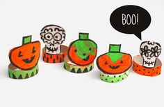 It's never too early to start thinking about Halloween, and these Toilet Paper Roll Halloween Decorations are the perfect craft to put you in the mood. Spring Crafts For Kids, Fall Crafts, Art For Kids, Kid Art, Halloween Pumpkins, Halloween Crafts, Halloween Decorations, Toilet Paper Roll Crafts, Paper Plate Crafts