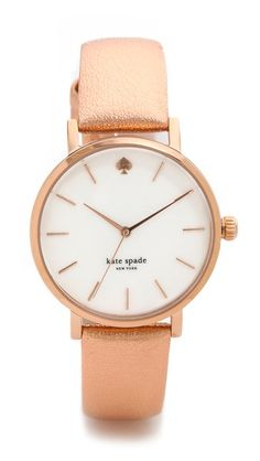 TCC Shopbop Friends and Family Pick!  Use code 'INTHEFAMILY14' for 25% off sitewide! I love this Kate Spade Metro watch in rose gold.