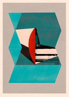 "Saatchi Art Artist jesús perea; Printmaking, ""Abstract composition 664 - Limited edition (20)"" #art"