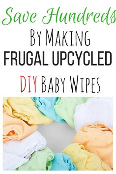 Have you ever thought of making DIY baby wipes? You can save money... and lots of it! If you use reusable diapers, reusable wipes is the next step in going green! I found three amazing recipes for homemade wipe spray here and the best way to make your own wipes! I've literally saved hundreds of dollars already.