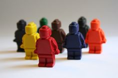 LEGO Minifigure Mini Crayons - Set of 8