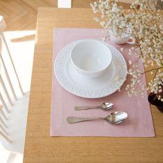 Individual linho cor de rosa
