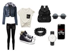 ~OOTD~ by crazytaylah-22 on Polyvore featuring Wet Seal, Paige Denim, Converse, Sherpani, Daniel Wellington, Casetify, Winter, cute, ootd and badgirl