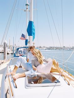 Photography: Carmen Santorelli Photography - carmensantorellistudio.com  Read More: http://www.stylemepretty.com/california-weddings/2014/10/14/sailboat-engagement-session-in-san-diego/