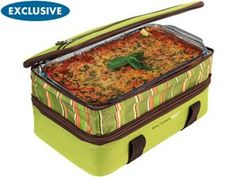 Double Decker Collapsible Carrier Green by Rachael Ray at Food Network Store Insulated Casserole Carrier, Keep Food Warm, Green Bean Casserole, Rachel Ray, Cold Meals, Bean Recipes, Casserole Dishes, Food Network Recipes, Green Beans