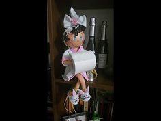 Como fazer boneca porta papel higiênico em eva by Vivian Balaban