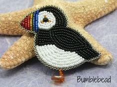 Little Puffin Brooch A Bead Embroidery Tutorial